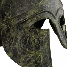 Greek Ancient Helmet With Crest Giga Size 32cm