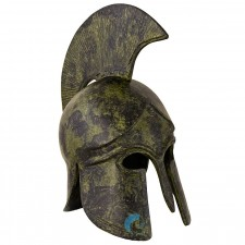 Ancient Greek Art Corinthian Helmet With Crest 22cm