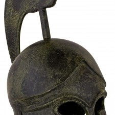 Greek Ancient Helmet of a hoplite with crest 25cm