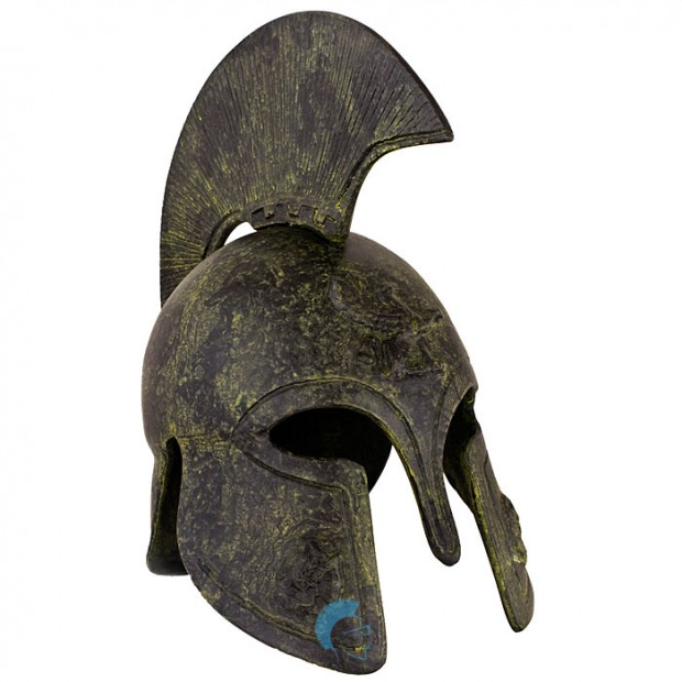 Greek Ancient Helmet depicting a griffin, with short crest