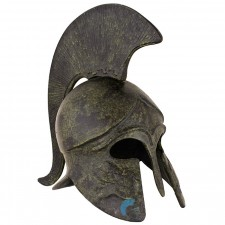 Greek Ancient Helmet with Pegasus and Short Crest 18cm
