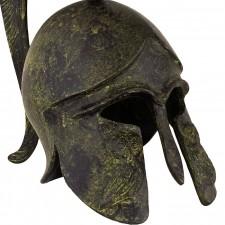 Greek Ancient Helmet depicting an owl 20cm