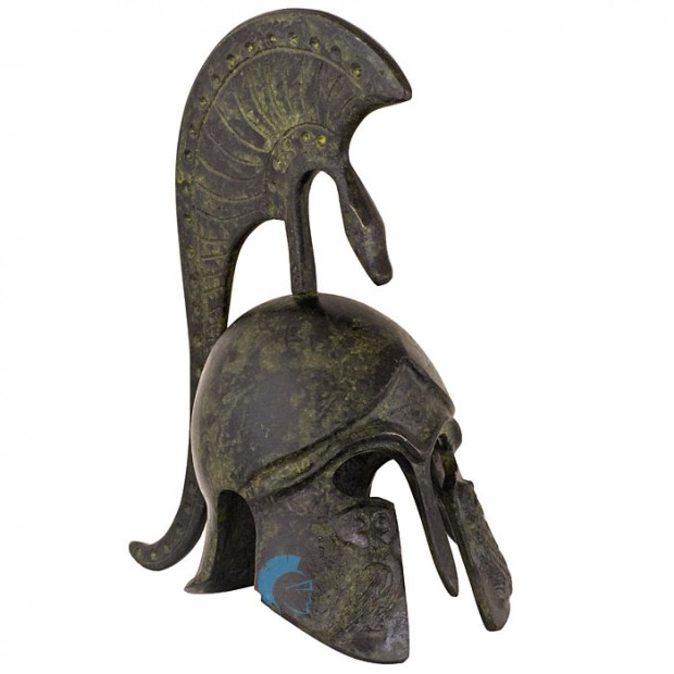 Ancient Greek Helmet with crest, depicting an owl,16cm
