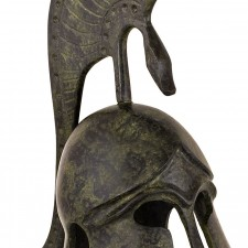 Greek Ancient Helmet with bulleted crest 16cm