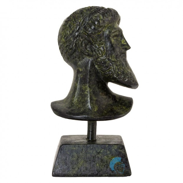Ancient Greek Bust Of Poseidon 09cm