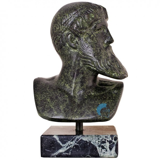 Ancient Greek Bust Of Poseidon 19cm