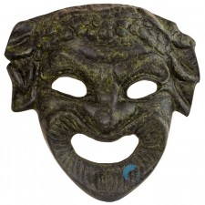 Ancient Greek Comedy Mask 12cm