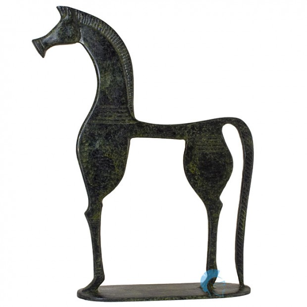 Ancient Horse Sculpture With Base, of the Geometrical Period