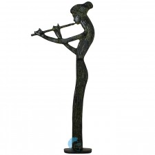 Ancient Greek woman standing playing the flute