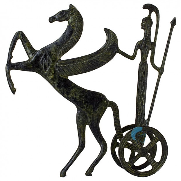 Ancient Greek Chariot of a Pegasus Horse