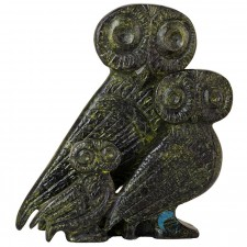 Bronze Three Owls