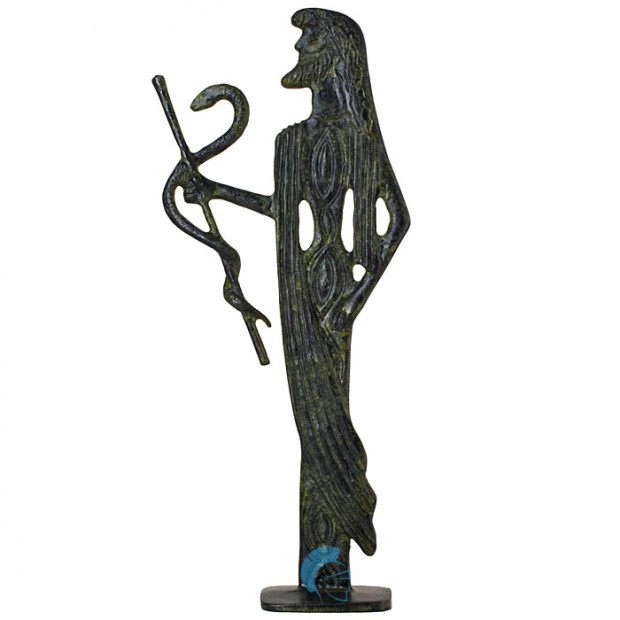 Asclepius, Greek God of Medicine and Healing 15cm