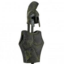 Ancient Greek Breastplate and Helmet of a Corinthian Hoplite