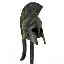 Greek Ancient Helmet With Base