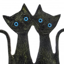 Two Cats Standing