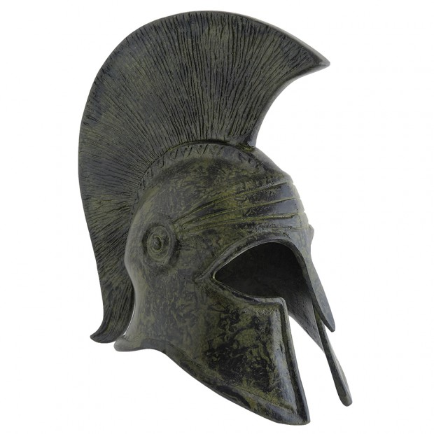 Ancient Greek Art Corinthian Helmet With Crest 18cm