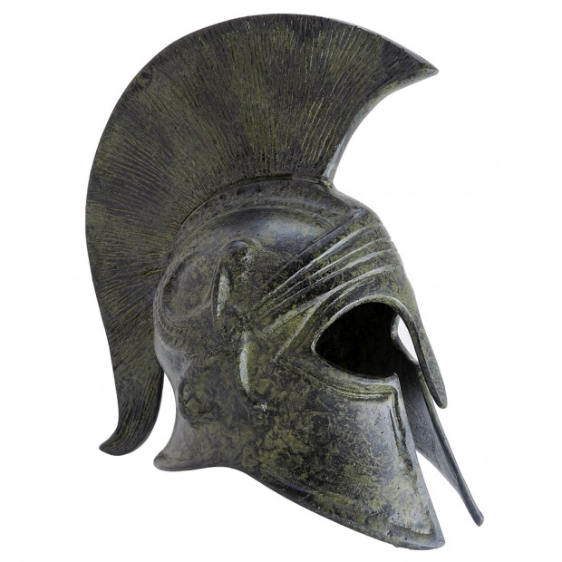 Ancient Greek Art Corinthian Helmet With Sphinx 18cm