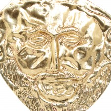 Bronze Mask of Agamemnon with Marble Base