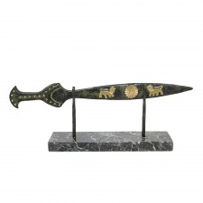 Sword with Lions with a Marble Base